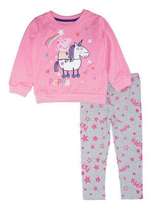 Peppa Pig Girls Pink L/S 2pc Legging Set Size 12M 18M 24M 2T 3T 4T