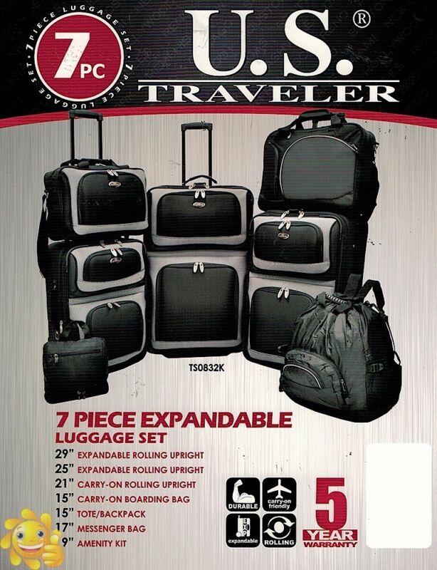 300 Traveler s Choice US Traveler 6 Six Piece Set BLACK - $45.99