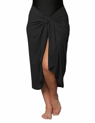 Plus Size Sarong Cotton Gauze Beach Wrap Cover Up Black 1X, - Cotton Plus Size Cover Up