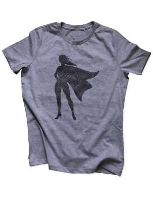 Female Superhero feminist run funny workout fitness Women / Men Triblend Shirt - Female Superhero Shirts