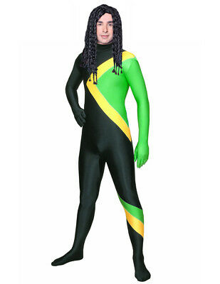 NEW JAMAICA BOBSLED TEAM COSTUME/UNIFORM - JAMAICAN FLAG - OLYMPIC BOB SLED SUIT - Jamaica Costumes
