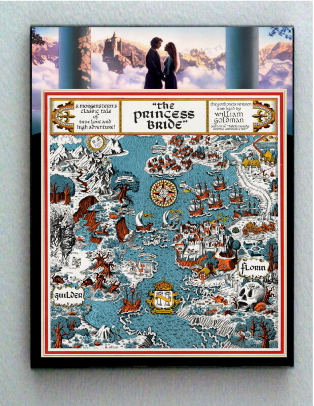 Framed The Princess Bride Florin Guilder Movie Book Site Land Map Memorabilia