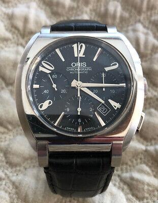 Oris Frank Sinatra Chronograph Men's Watch With Box.