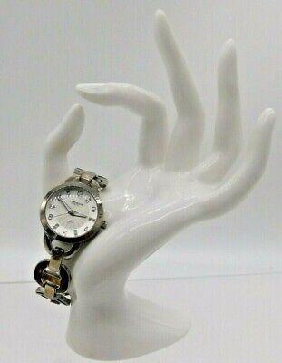Akribos XXIV Swiss AK699YG Round Diamond Dial Silver Tone Tortoiseshell Watch