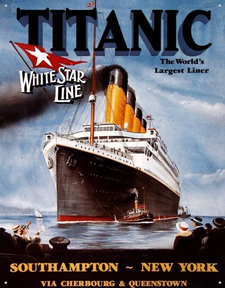Titanic White Star Line Cruise Ship Vintage Retro Tin Sign 1