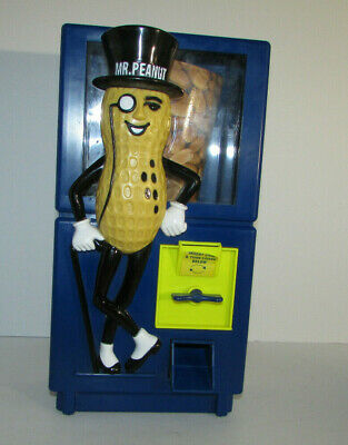 Vintage Mr. Peanut Coin Operated Planters Peanut Dispenser Bank Large Working