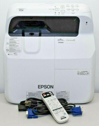 Epson PowerLite 675W UltraShortThrow 3xHDMI 3LCD 3200 Lumens 430 Used Lamp Hours
