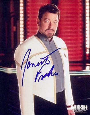 Jonathan Frakes Color 8x10 Autographed Photo COA Star Trek Next Generation