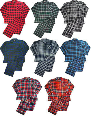 Flannel Mens Pajamas - NORTY Mens Flannel 2 Piece Pajama Sets - 100% Brushed Cotton Flannel - 8 Prints