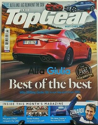 BBC Top Gear Issue 290 Best Cars 2016 Alfa Giulia Porsche 911 FREE SHIPPING (Top Gear Best Cars)