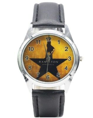 Broadway Musical Hamilton Genuine Leather Band WRIST WATCH - Hamilton Leather Wrist Watch