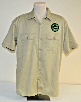 TYPE O NEGATIVE BROTHERS IN BLOOD BAND DICKIES BUTTON FRONT SHIRT KHAKI LARGE