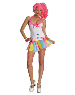 Candy Halloween Costume (Sexy Womens Candy Girl Lollipop 80s Halloween Costume Bedroom Cosplay Size)
