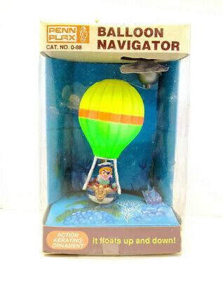 Vintage BALLOON NAVIGATOR Penn Plax Air Action Ornament Freshwater Collectible