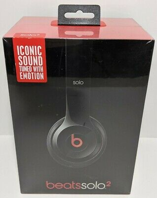 BEATS BY DRE SOLO 2 Wired HEADPHONES BLACK ON-EAR Brand New Sealed