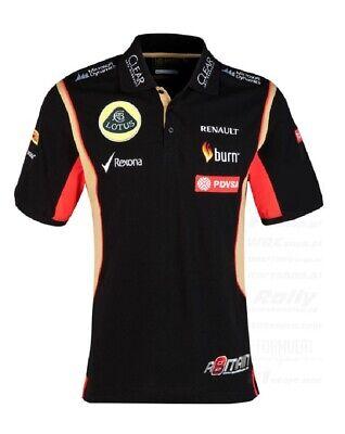 POLO SHIRT Mens Formula One 1 Lotus F1 Team NEW! PDVSA Grosjean 2014/5