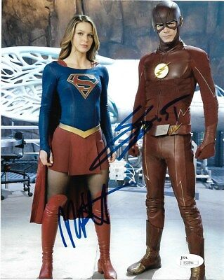 Melissa Benoist Grant Gustin Autographed Signed 8X10 Photo Jsa Coa  4