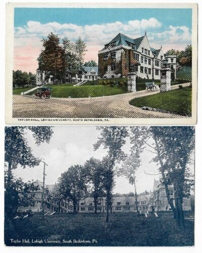 Vintage Postcards Lehigh University,Bethlehem PA: Taylor Hall