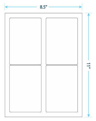 10 Sheets - 40 Blank Return Address Labels - 5 X 3 12 - Free Shipping