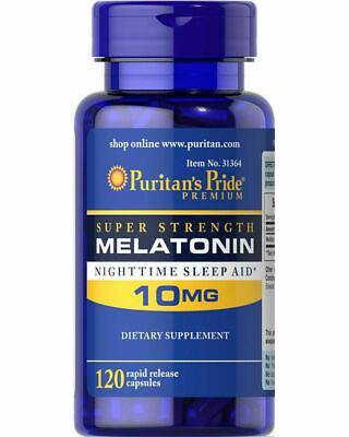 Puritan's Pride Melatonin 10mg Night Time Sleep Aid - 120 Ca