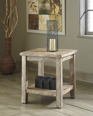 Ashley Furniture Chair Side End Table Rustic Accents Bisque T500 302 Table New
