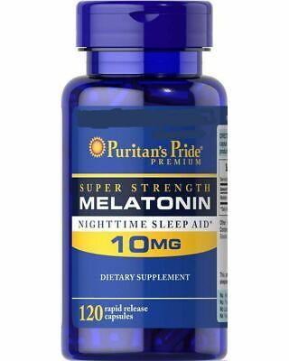 Natural SLEEP AID Depression Stress Serotonin Jet Lag 120 Capsules 10 mg