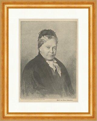 Marie von Ebner Eschenbach Mähren Schriftstellerin Österreich Holzstich E 22489