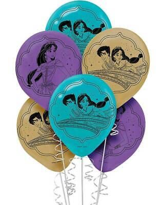(6ct) Aladdin Happy Birthday Latex Balloons Party Supplies 12