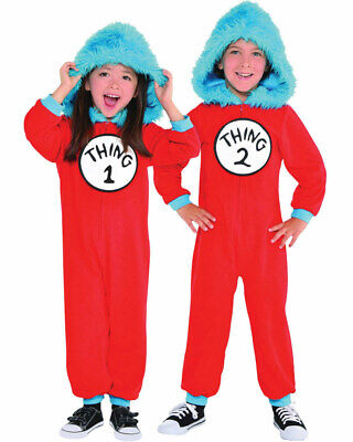 Dr Seuss Thing 1 And Thing 2 Kids Costume Size 4-6