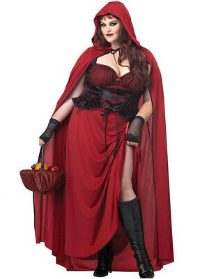 Dark Red Riding Hood Womens Plus Size Costume ()