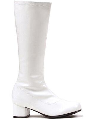 White Patent Go Go Kids Boots
