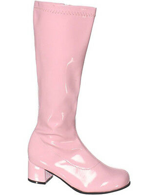 Pink Patent Go Go Kids Boots - Childrens Pink Patent Boots