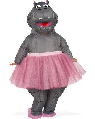 Hippo Ballerina Inflatable Adult Costume Size STD