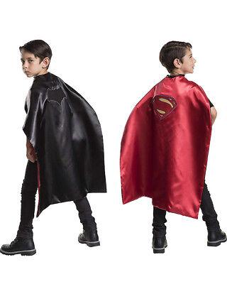 Dc Batman And Superman Reversible Kids Cape Size STD](Reversible Batman Superman Cape)