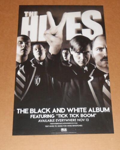 The Hives The Black and White Album Poster 2007 Original Promo 14x22 RARE
