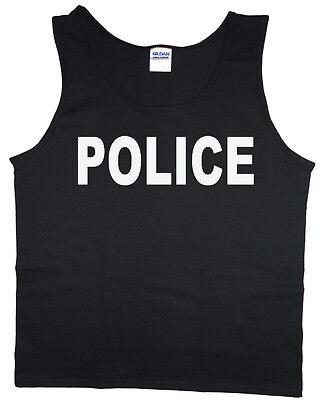 Men's tank top police design uniform costume for men t-shirt sleeveless tee - Police Costume For Men