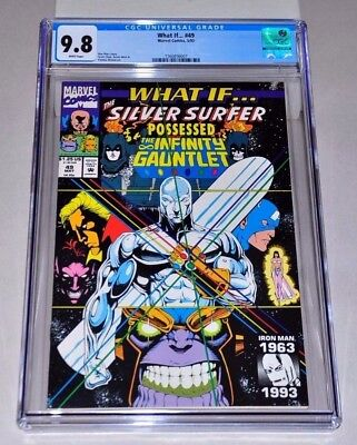 What If 49 CGC 9.8 White Pages Infinity Gauntlet Thanos Silver Surfer