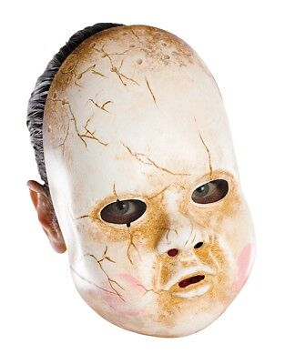 Erwachsene Unheimlich Böser Clown Besessen Babypuppe Maske Kostüm