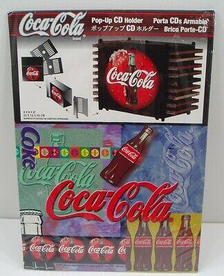 Rare Vintage New 1997 Coke Coca Cola Pop-Up CD Holder Unused