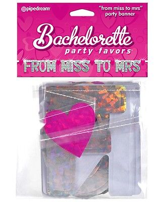 From Miss To Mrs Banner (Bachelorette Party Banner