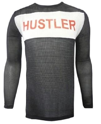 Tyler Durden Hustler Mesh Shirt Fight Club Movie Costume Brad Pitt Long Sleeve - Hustler Costume