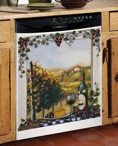 Window Scene Kitchen Dishwasher Cover Wine Grape Kitchen Decor EBay