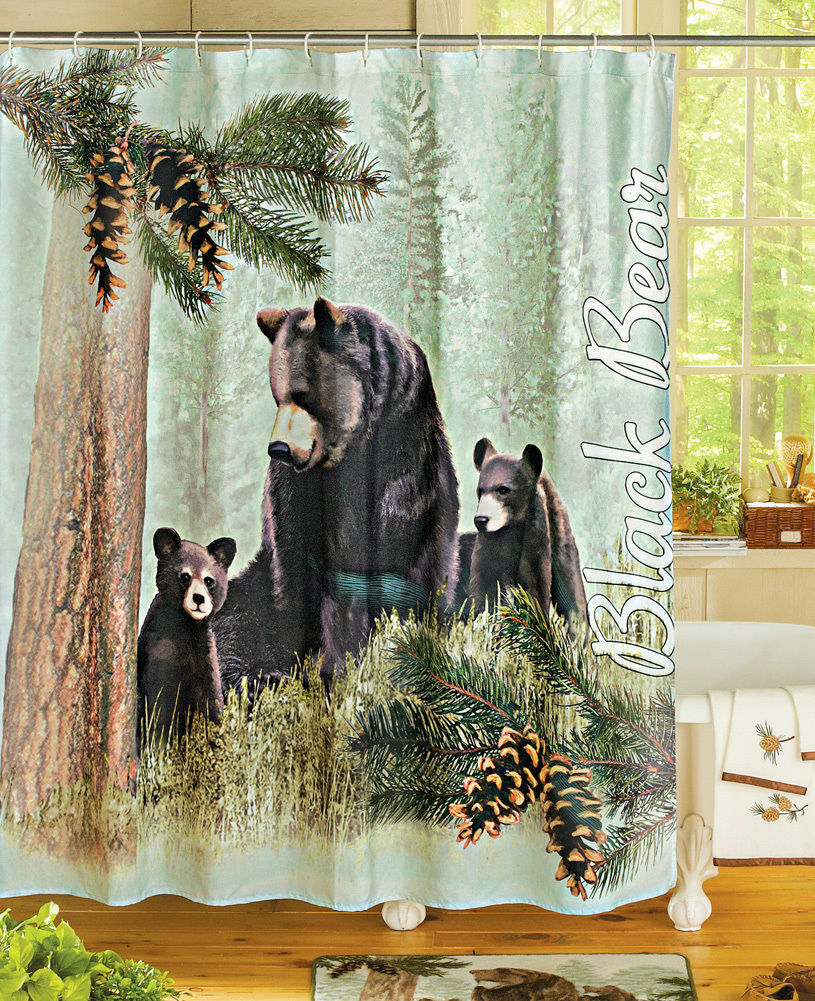 Lodge Cabin Home Bath Decor Northwoods Mama Black Bear