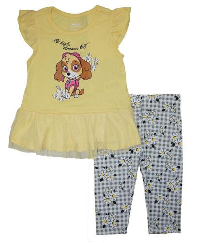 Paw Patrol Girls Yellow 2pc Capri Legging Set Size 2T 3T 4T 4 5 6 6X