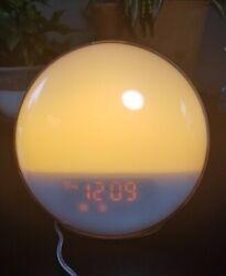 Sunrise Alarm Clock, Homagical Wake-Up Light Alarm Clock with Colored Sunrise