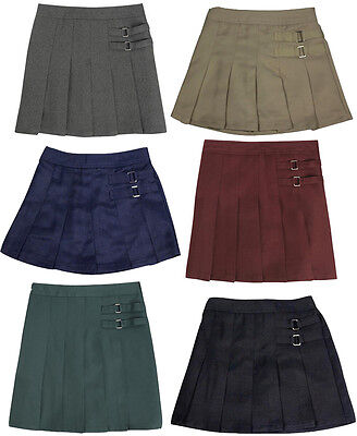 French Toast School Uniform Girls Two Tab Pleated Scooter Skirt (Sizes 4-20)