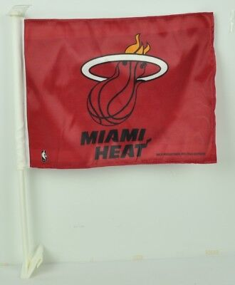 (NBA Miami Heat Car Window Red Flag Double Sided Automobile Car Accessories )