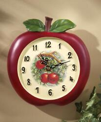 Country Apple Shaped Decorative Kitchen Clock