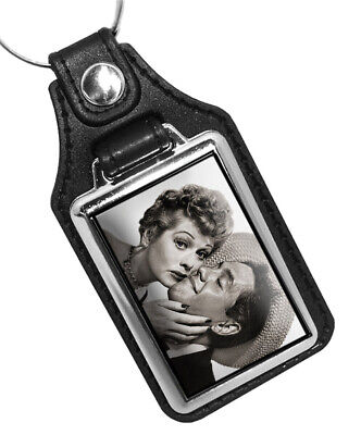 Lucille Ball and Ricky Ricardo I Love Lucy TV Show Faux Leather Key Ring