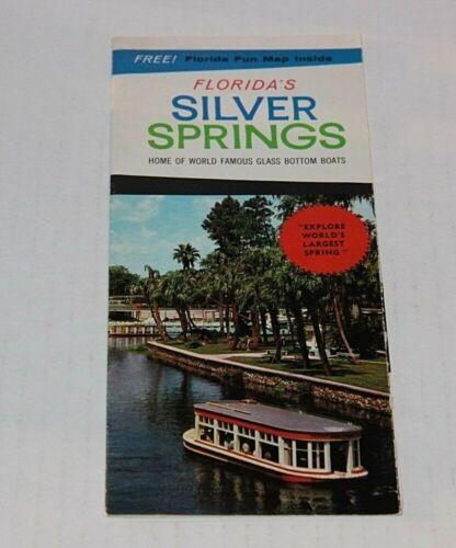 Vintage Travel Brochure Florida Silver Springs Florida Fun Map